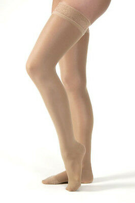 Jobst Ultrasheer 20-30 mmHg Thigh High Firm with Lace Silicone Border CLOSED toe