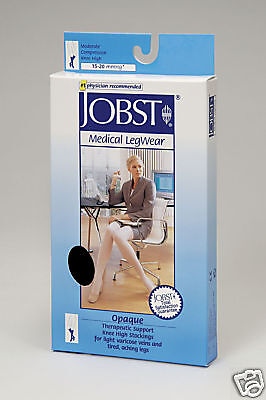 Jobst Opaque Stockings Knee High Closed Toe 15 - 20 mmHg Compression