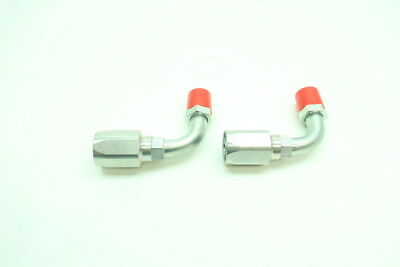 2x New Parker R5-10 Hose Crimp Elbow Fitting 1/2in X Jic-10