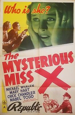 The Mysterious Miss X (1939) Stunning Mystery Thriller * Original 27X41 1-Sheet