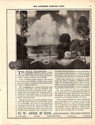 1919 Saturday Evening Post Magazine Print Ad N. W. Ayer & Son  Advertising A161