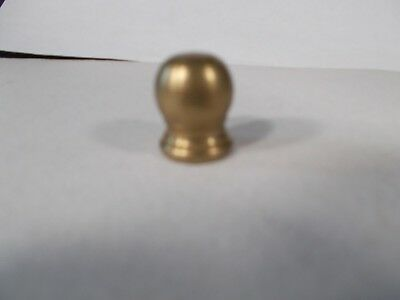 Vintage Brass Electric Fixture Table Lamp BALL Finial 3/4in tall