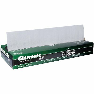 "Glenvale Standard Weight All Purpose Dry Wax Paper 15"" x 10.75"" - 500 Sheets"