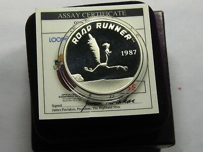 Road Runner Warner Looney Tunes Vintage 999 Silver Coin Box Coa Rare Only 1 Ebay