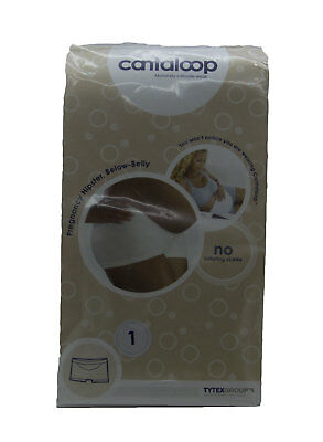 CANTALOOP Maternity Women's White Below-Belly Pregnancy Hipster Sz 1 $32 NEW