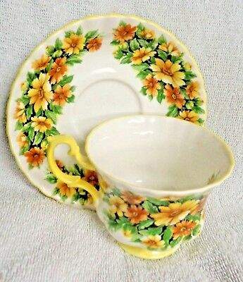 Royal Albert Fragrance Series Marguerite Yellow Daisy  Cup and  Saucer