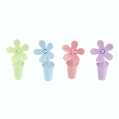 4pcs silicone wine stopper flower shape beer flavouring bottle cover stopper HF