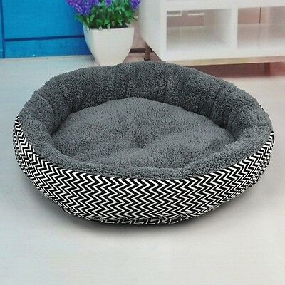 New Pet Nesting Bed Round Canvas Dog Sleep Cushion Cat Cozy Mat Soft Sofa Pad