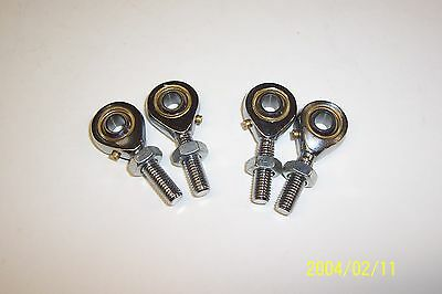 Kart Track Rod End Male  2 x Left & 2 x Right Inc Nuts New Kart Parts UK