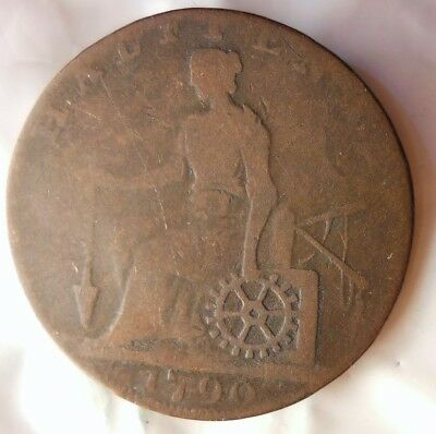 1790 GREAT BRITAIN (WARWICKSHIRE) 1/2 PENNY - William Shakespeare - Lot #513
