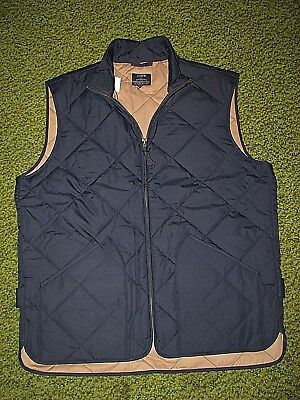 $150.Men's (M) J.CREW Navy Blue Quilted Vest