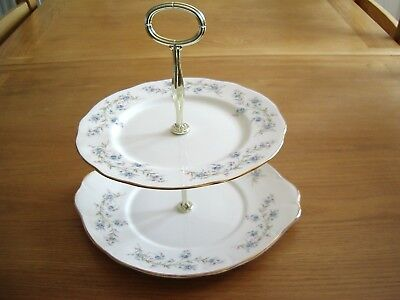 Vintage Duchess Bone China Two Tier Cake Stand –Tranquillity Pattern.