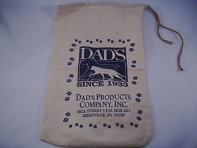 "Dads Pet Food Cloth Bag since 1933 9"" x 16""  new     #531"