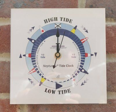 Wall mounted perspex square tide clock