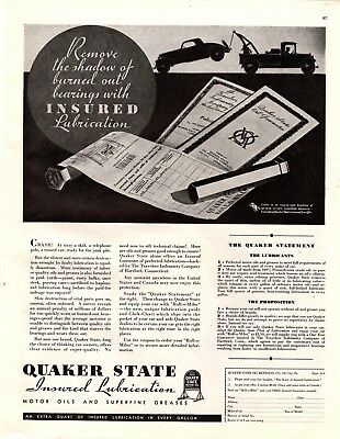 1932 Magazine Ad Quaker State Lubrication Advertisment  A176