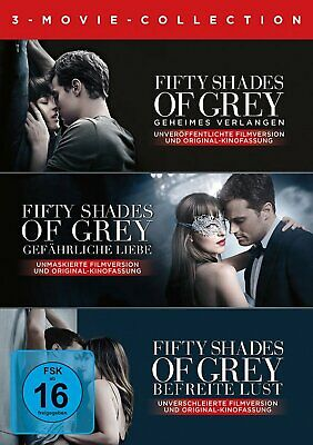 Fifty Shades of Grey 1+2+3 - 3-Movie Collection # 3-DVD-BOX-NEU
