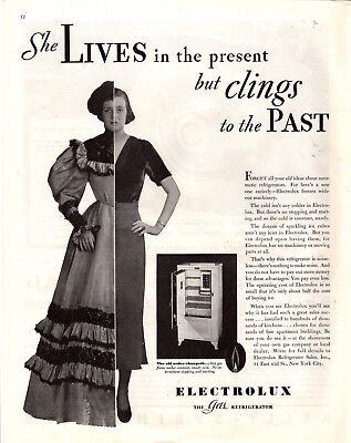 1932 Magazine Ad Electrolux Gas Refrigerator  Advertisment  A196