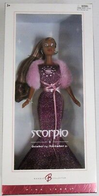 Scorpio African American Barbie Doll (Zodiac Collection)(Pink Label) (NEW)