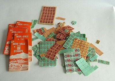 Large Lot of Vintage Trading Stamps * S & H Green Stamps & Mor-Valu with books