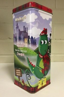 Loch Ness Monster - Walkers Shortbread Triangles Biscuit Tin 2014
