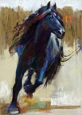 CHOP259 modern animals wall art hand-painted oil painting on canvas:horse