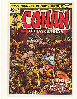 Conan The Barbarian # 24 - 1st full Red Sonja Smith cover & art VF+ Cond.