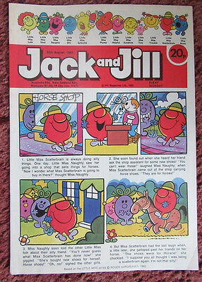 Jack And Jill Comic 20 Aug 1983. Nr Mint. Unread Unsold Newsagents Stock.