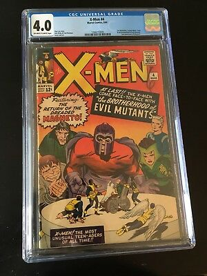 X-Men 4 CGC 4.0 OW To White Pgs First Quicksilver And Scarlet Witch