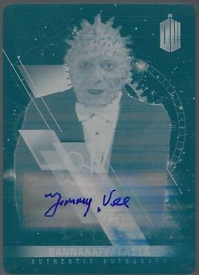 DOCTOR WHO TIMELESS Jimmy Vee auto CYAN printing plate BANNAKAFFALATTA TOPPS