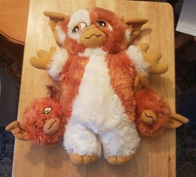 "Gremlins 2 The New Batch Gizmo Two Baby Mogwai 13"" Soft Plush Hornby 1991"