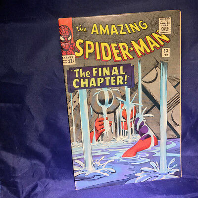 Marvel Comics AMAZING SPIDER-MAN #33 FINE/VERY FINE SILVER AGE AWESOMENESS!