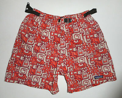 "Vtg PATAGONIA Swim Trunks HAWAIIAN Belted Bathing Suit BAGGIES Shorts 5"" Mens MD"