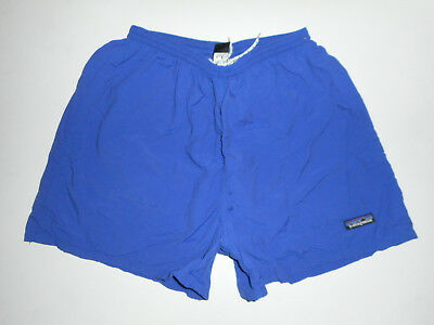 "Vtg PATAGONIA Swim Trunks NAVY BLUE Bathing Suit BAGGIES Shorts 4"" Lined Mens MD"