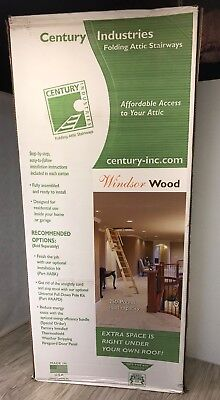 "8'9"" Attic Folding Ladder Stairway Rough Opening 22.5 x 54"" Windsor Wood Kit New"