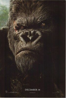 King Kong 2 Sided Advance Original 2005 Rolled 27x40 Movie Poster (#A-1)