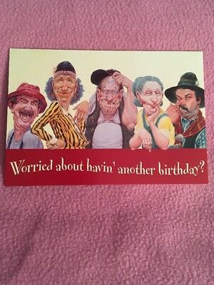 """CLEARANCE: Leanin' Tree """"Worried About..."""" Birthday Card"""