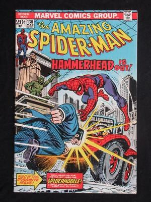 Amazing Spider-Man #130 MARVEL 1974 - HIGH GRADE - Hammerhead app - Stan Lee!!