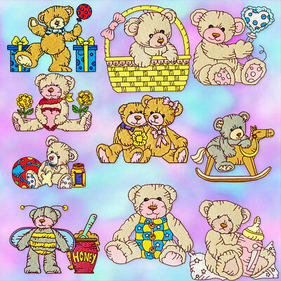 Teddy Lovable 10 Machine Embroidery Designs Cd 3 Sizes