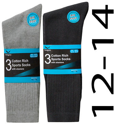 12 pairs or 24 pairs mens Cotton Rich Sport Socks work men size 12-14  big foot