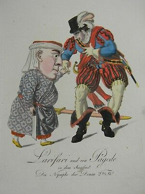 50 ANTIQUE HAND COLORED COSTUME ENGRAVINGS - Early 19th Century