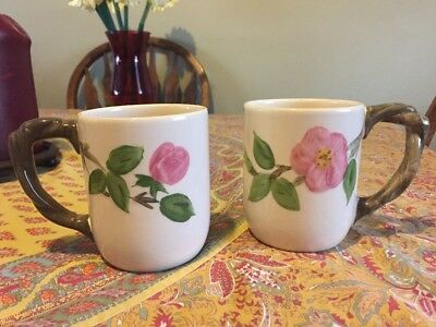 SET OF 2 FRANCISCAN DESERT ROSE ENGLAND MUGS/CUPS ~ PERFECT CONDITION ~1 w/TAG