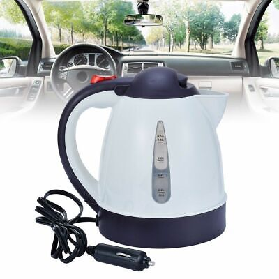 12V Travel Car Van Lorry Kettle 12 V Volt Water Boiler w/ Cigarette Lighter Plug