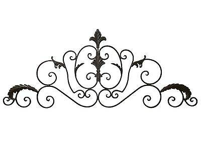 grand fronton applique decoration tete de lit murale plaque grille en fer 102cm