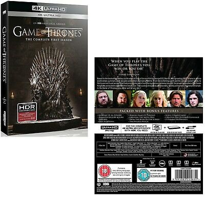 GAME OF THRONES 1 (2011) SONG of FIRE and ICE - TV Season - 4K ULTRA UHD BLU-RAY