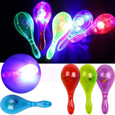 LED Flashing Percussion Musical Instruments Sand Hammer Party Flash Toy Gift