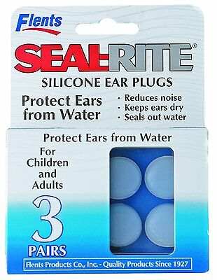 Flents Ear Plug Seal Rite Silicon Clear 3 Pair