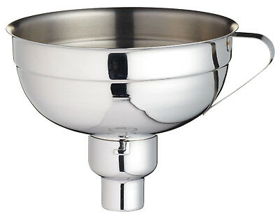 Kitchen Craft Large Stainless Steel Pouring Jam Funnel With Adjustable Nozzle