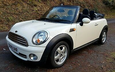 2009 Mini Cooper Convertible R56 White 1.6 Cabriolet 2Dr 77K Miles Fsh 6 Speed