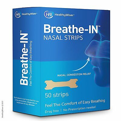▶ Breathe-IN™ Nasal Strips Drug-Free Nasal Congestion Relief Blocked Nose Strips