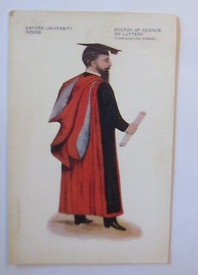 Studentika, Oxford University Robes, Doctor of Science or letters,1914 ♥ (21688)